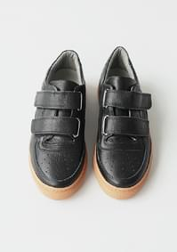 real leather velcro sneakers