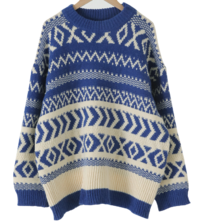 Nordic Loose Fit Round Knit