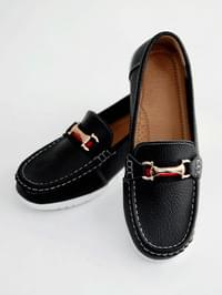 Ribbed leather loafers 3 cm