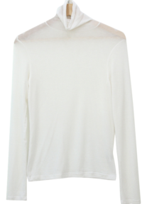 Natural Cutting Span Turtleneck T-shirt