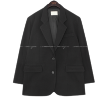 Notch Lapel Boxy Fit Jacket
