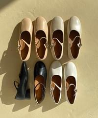 Round Mary Jane Shoes-3color