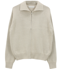 Dipping Knit Zip-up