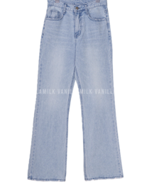 Snow Light Blue Wide Denim Pants
