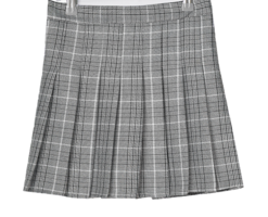 Athenen check pleated mini skirt