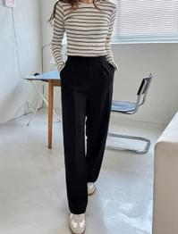 Lindsay Hidden Button Wide Slacks