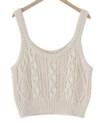 Cable Knitwear Sleeveless Best