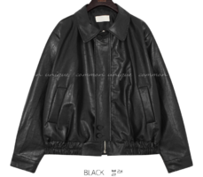 Semi-Elastic Hem Faux Leather Jacket
