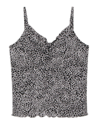 Pia leopard shirred camisole 無袖