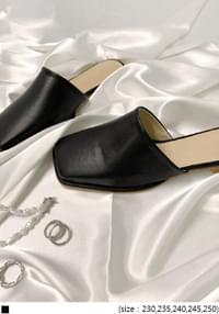 Square Toe Loafer Mules