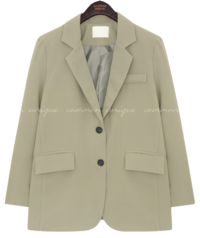 Solid Color Notch Lapel Jacket