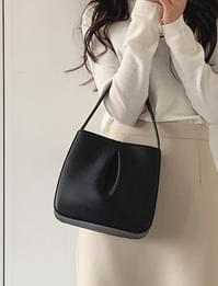 Arty leather tote bag