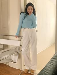 Daily Buckle Wide Pants