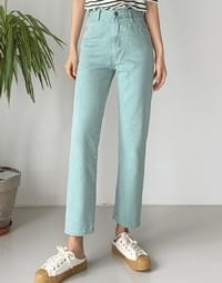 Washed Color Pants