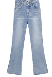 Double Button Side Slit Jeans