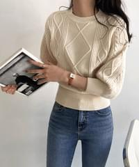 Harmony Cable Puff Knitwear