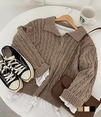Venice Cache Cable Collar Knitwear