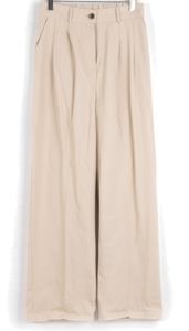 Raven pintuck cotton-wide trousers
