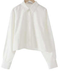 Swan cotton cropped shirt