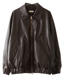 light fake leather blouson