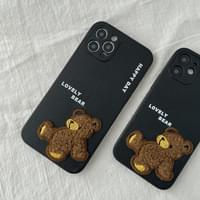 Pogely Bear Leather Full Cover iPhone Case