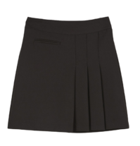 Muffin unfoot pleated mini skirt