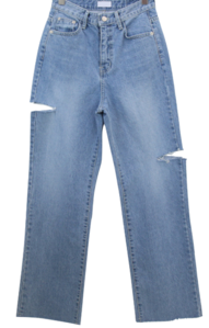 King torn Vintage wide jeans