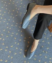 One of Leather Flats