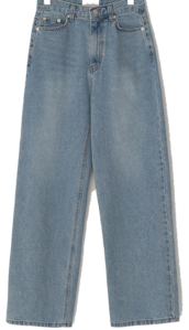 Orchid Faded Wide Denim Pants