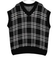 Check Mellow Knitwear Vest