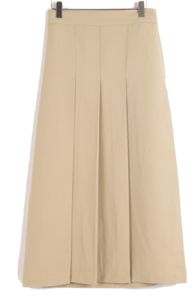 Dina pleated long skirt