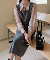 X Overall Dress -2color