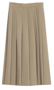 Bonnet pleats wrinkled long skirt