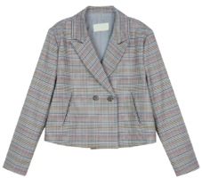 Terry check double casual jacket