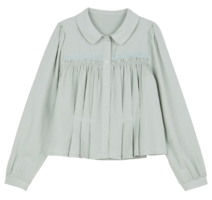 Rodem pleated collar blouse