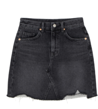 Higher Damage Denim Mini Skirt