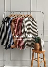 Striped side split T-shirt you want to wear every day