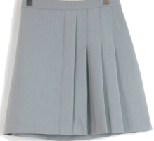 Knurled pleated skirt