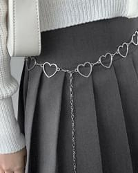 Lily Silver Heart Chain Belt