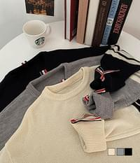 Tom Button Split Overfit Knitwear