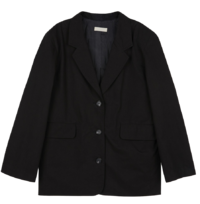 Crunchy cotton single blazer