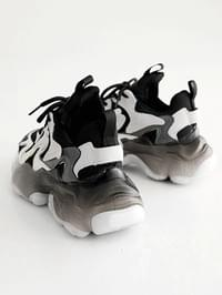 Overwhelming Leather Ugly Sneakers 5cm