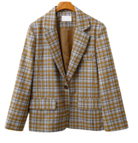 Honey check jacket