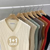 ♥ ♥ 1 + 1 discount Loose-fit Twisted Knitwear Knitted Jackets Best T # YW738