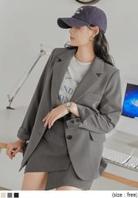 Notch Lapel Long Sleeve Jacket