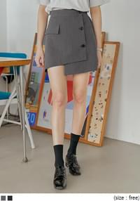 Asymmetrical Mini Skirt