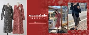 《Exclusive order/Same day shipping》Marmalade .Ruffle flower wrap Dress