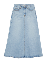Mermaid denim maxi skirt