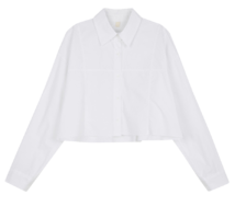 Marie cut cropped shirt