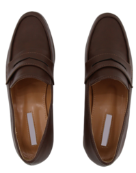 More flat penny loafers